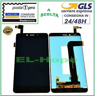 Display Lcd Xiaomi Hongmi Redmi Note 2 Touch Screen Schermo Monitor Vetro Nero