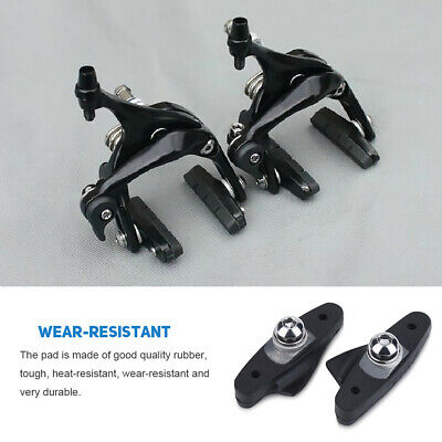1 Pair Rubber Brake Pads Linings for Road Fixed Gear Bikes Bicycle Accessory