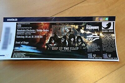 KISS Iffezheim 06.07.19, 1x Front of Stage