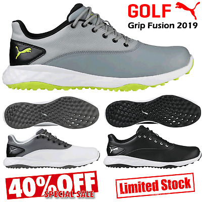 Mens Golf Shoes Puma Golf Shoes Grip Fusion Spikeless Golf Shoes Waterproof New
