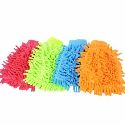4X(Chenille Cleaning Gloves Gloves high-quality non-scratch large car wash F8S4