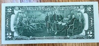 Uncirculated $2 Two Dollar bill note BEP Lucky USD Fancy