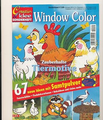 Creativ - Idee Windows Color Zauberhafte Tiermotive