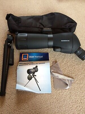 MAGINON Spotting scope 20-60 X 60 with Tripod, Pouch and manual - archery!