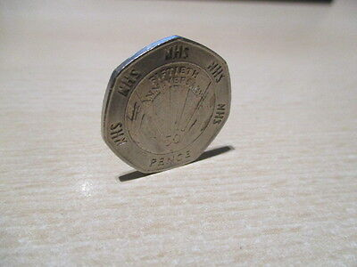 Rare 50p - Fifty Pence Coin - 1998 - NHS 50th Anniversary - Circulated but VGC.