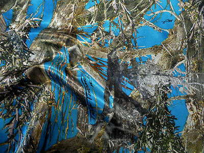 Fabric True Timber Camo MC2 Blue Charmeuse Silky Bridal Satin CS23