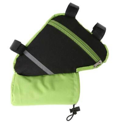 4X(Ultralight Reflective Bicycle e Frame Bike Bag with Water Bottle Pouch -D8J8