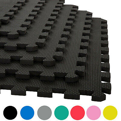 Gym Flooring Interlocking Floor Mats EVA Soft Foam Mat Yoga Tiles Garage Matting