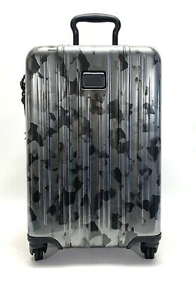 Tumi V3 Expandable International Carry-On Spinner Luggage Galvanized Silver