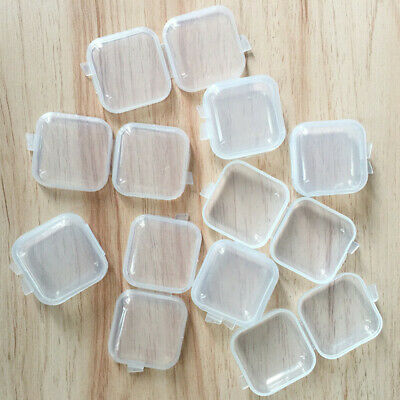 10/30PCS Mini Clear Plastic Small Box Jewelry Storage Container Bead Clear Case