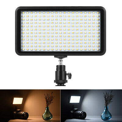 228 LED Video Light Lamp Panel Dimmable 20W 2000LM for Camera DV Camcorder F4J3