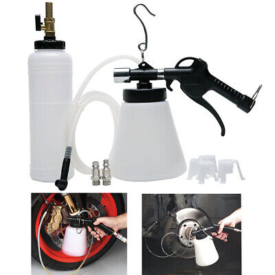 Pneumatic Brake Fluid Bleeder Kit Car Air Extractor Clutch Oil Bleeding Tool Set