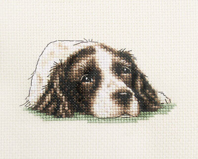 LIVER SPRINGER SPANIEL DOG Full cross stitch kit + All materials  *FIDO STUDIO