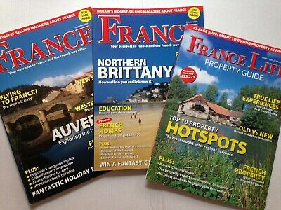 France Magazine 2 Issues Sep Oct 2003 Auvergne Bercy Galerie Locronan Brittany