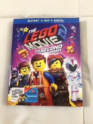 The Lego Movie 2:The Second Part(Blu-Ray+Dvd+Digital)W/Slipcover New Sealed