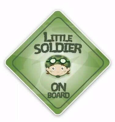 Little Soldier Baby On Board Kids Sticker Decal Girl Boy Child Funny Novelty Car