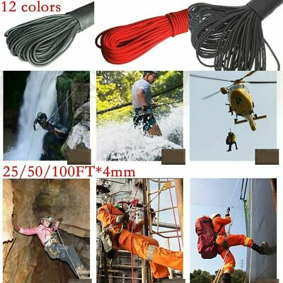 Braided 4mm Polypropylene Plaited Poly Rope Cord Yacht Boat Sailing Camping Q6I4