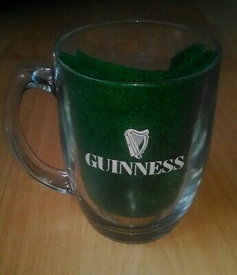 Guinness Ireland Green Collection Beer Glass Tankard with Metal Badge