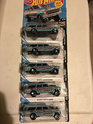 "HOT WHEELS 2019 HW RACE DAY '64 NOVA WAGON GASSER ""JERRY RIGGED"" (Lot of 5)"
