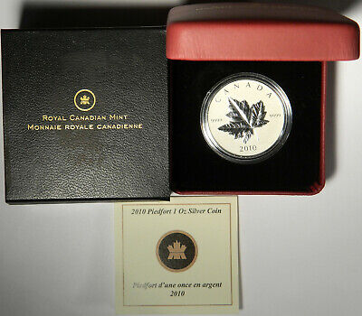 2010 Canada Silver Maple Leaf .9999 Double-Thick Piedfort ~ All Orig. Mint Pkg!