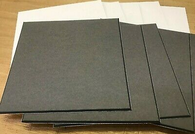 "Pack 10 White With Black Core 5 Inch Square 5"" X 5"" Mountboard Mount Board"