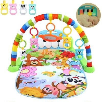 3 in 1 Baby Gym Play Mat Lay Play Toys Fitness Music & Lights Fun Piano Boy Girl