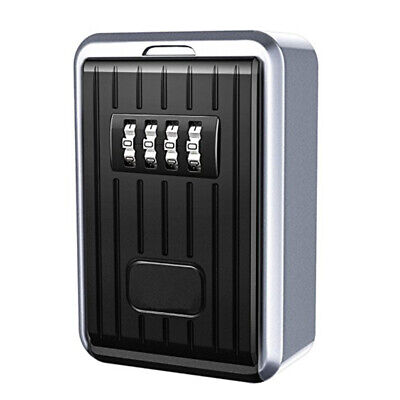 4X(Lock Box 4 Digit Combination Waterproof Box Aluminum Alloy Weather ResisF4A8