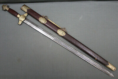 A fine Chinese jian (sword) with a superb blade - Qing dynasty, China 19th c.