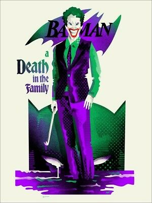 """BATMAN """"A Death in the Family"""" Limited 100% real MONDO POSTER. Only 175 exist!!!"""
