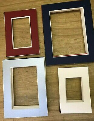 50 Picture Frame Mounts 4 Standard Sizes Assorted Colours Artists Photographer