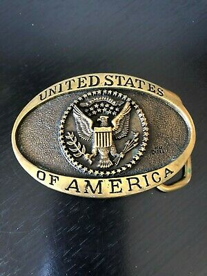 United States of America Belt Buckle Solid Brass Registered Collection Heritage