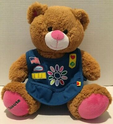 Build A Bear 100th Anniversary Girl Scout USA Stuffed Bear with Smock