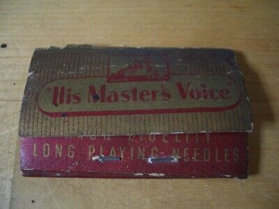 His Master Voice Needles  Agujas Gramofono Gramophone Needle Packet Made In Gb
