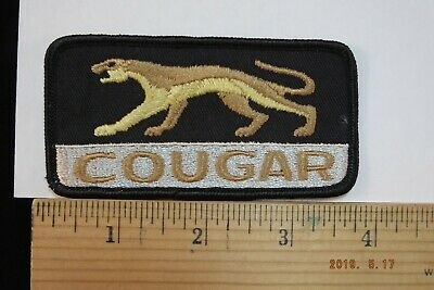 """Vintage Ford Mercury Cougar  Embroidered Sew-on Patch  4x2"""""""