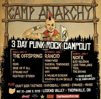 2 VIP Camp Anarchy Admission Passes ($40 Savings!) May 31 - June 2, 2019