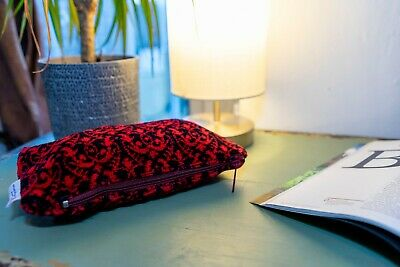 Pencil case  made of Great Northern Railway Seat Moquette Fabric