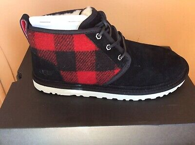 e74d7f92275 UGG MEN'S NEUMEL Chukka Boots Redwood Plaid Black/Red Waterproof Size