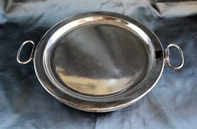 Old Sheffield Plate Warming Tray With Two Hinged Handles c. 1820