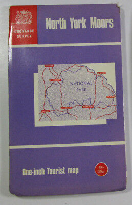 1965 Old Vintage OS Ordnance Survey One-Inch Tourist Map North York Moors