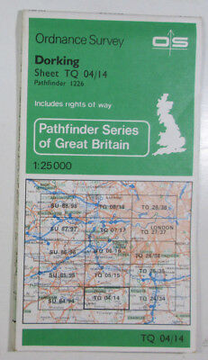 Old Vintage 1983 OS Pathfinder Map 1226 Dorking TQ 04/14 Ordnance Survey 1:25000