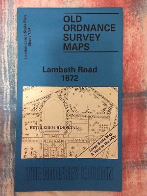 Old Ordnance Survey Maps - Lambeth Road 1872 - The Godfrey Edition