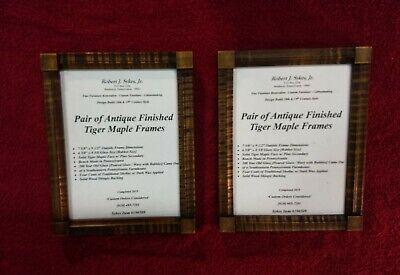 Pair of Tiger Maple Frame w/ Antique Finish / Antique Glass by Rob Sykes