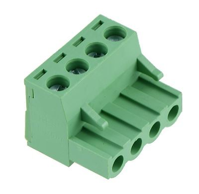 4-Way Plug-In PCB Screw Terminal Block 5.08mm