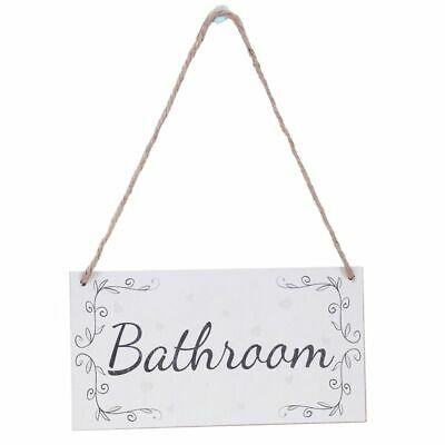 Bathroom - Handmade French Shabby Chic Style Wooden Home Decor Door Sign / O2R6