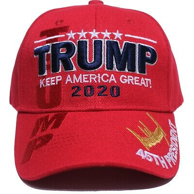 President Donald Trump Keep America Great  2020 Hat  Red Cap 3D 45 President