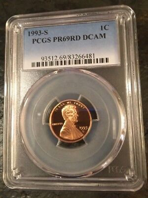 1993 S 1C  Lincoln Proof Cent PCGS PR69RD DCAM ~Red~