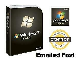 Microsoft windows 7 Ultimate 32/64 Bit key + Windows Downloading Fast Delivery
