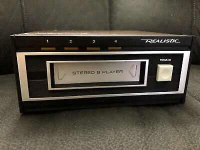 Vintage Realistic TR-169 Stereo 8-Track Play Deck Catalog #14-935  Tested