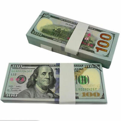 100 Bills Best Novelty Movie Prop Play Fake Money Joke Prank Not Tender UK G0O2