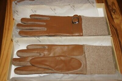 Page One Women's Leather Driving Gloves, Small - Brown - Brand New